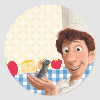 Remy and Linguine Classic Round Sticker