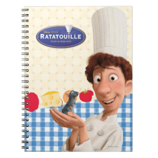 Remy and Linguine Spiral Note Book