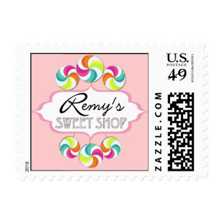 Remy's Sweet Shop Lollipop Postage Stamp