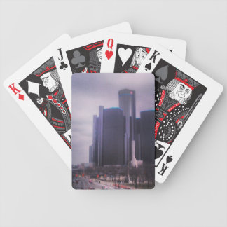 Ren Cen on Jefferson Ave Detroit Mi Bicycle Playing Cards