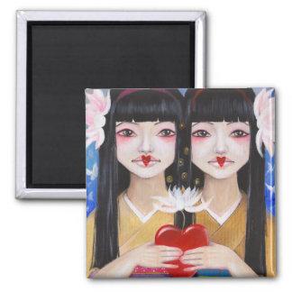 Ren Cho and Shinobu Fridge Magnets
