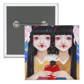 Ren Cho and Shinobu Pinback Button