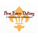 Ren Faire Dating.com Fluer De Lis Tarjetas Postales