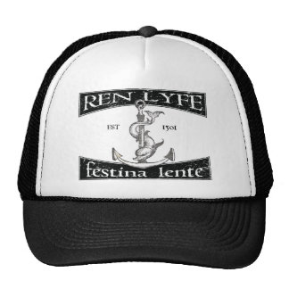 Ren Lyfe: Distressed Aldus Festina Lente Trucker Hat