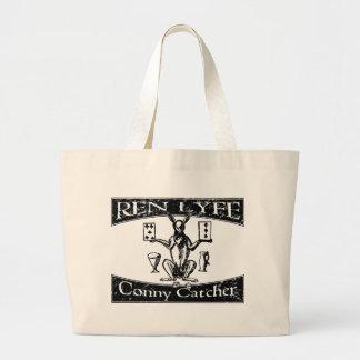 Ren Lyfe: Distressed Robert Greene Conny-Catcher Large Tote Bag