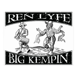 """Ren Lyfe: Distressed William """"Big Kempin"""" Kempe Postcard"""