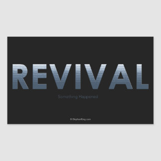 Renacimiento - algo sucedió pegatina rectangular