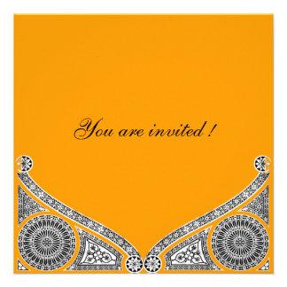 RENACIMIENTO amarillo anaranjado Invitación Personalizada