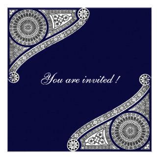 RENACIMIENTO azul Invitaciones Personales