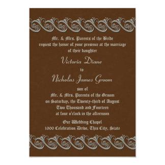 Renacimiento Brown con la bodas de plata antigua