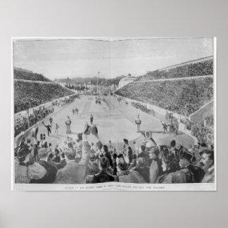 Renacimiento de los Juegos Olímpicos en Atenas Póster