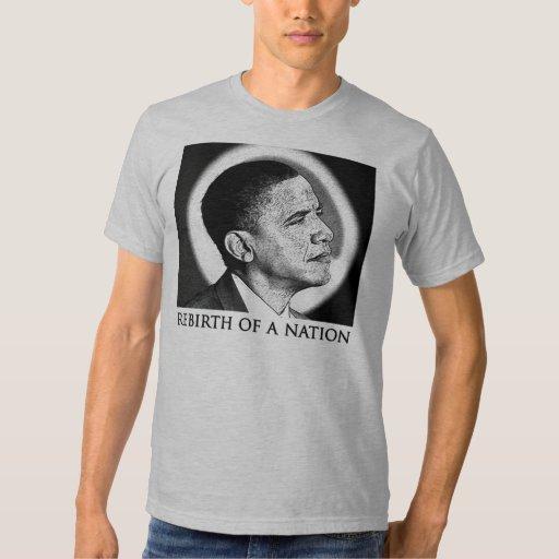 Renacimiento de una camiseta de Obama de la nación Camisas