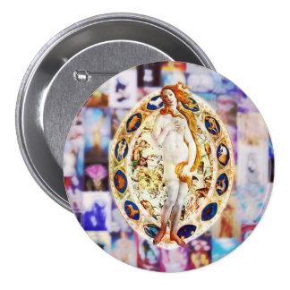 Renacimiento de Venus Pin Redondo 7 Cm