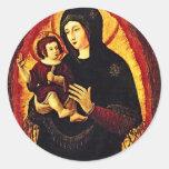 Renacimiento Madonna Etiqueta