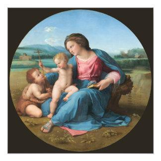 Renacimiento que pinta a Madonna Alba Fotografía