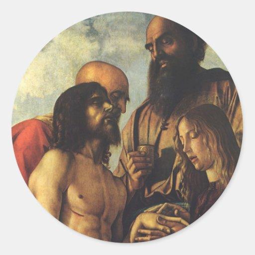 Renacimiento religioso, Pieta de Juan Bellini Pegatina Redonda