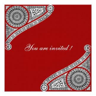 RENACIMIENTO rojo Invitacion Personal