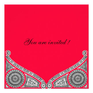 RENACIMIENTO rojo Invitación Personalizada