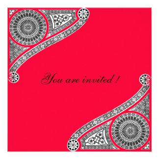 RENACIMIENTO rojo Invitacion Personalizada