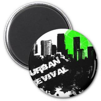 Renacimiento urbano imán redondo 5 cm