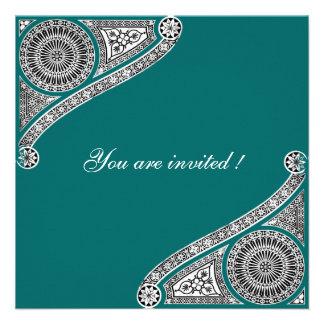 RENACIMIENTO verde azul Invitaciones Personales