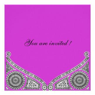 RENACIMIENTO violeta púrpura brillante Invitaciones Personalizada