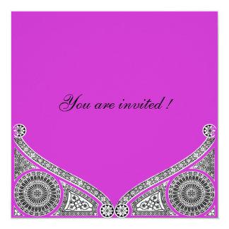 """RENACIMIENTO, violeta púrpura brillante Invitación 5.25"""" X 5.25"""""""