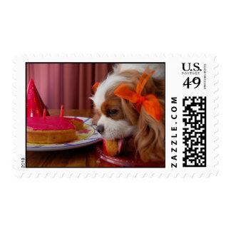 Renae Birthday Cavalier Spaniel Postage Stamp