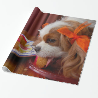 Renae Cavalier King Charles Birthday Gift Wrapping Paper