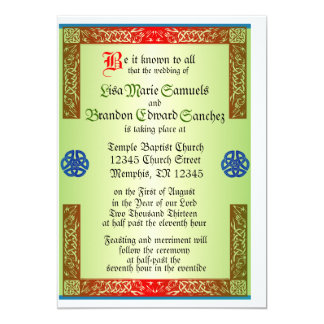 renaisaince medieval wedding invitation - Medieval Wedding Invitations