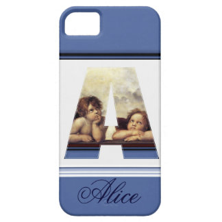RENAISSANCE ANGEL A LETTER Winged Cherub Monogram iPhone SE/5/5s Case