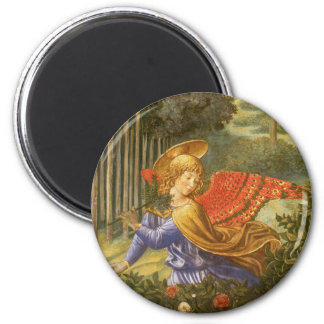 Renaissance Angel Art, Procession of the Magi 2 Inch Round Magnet