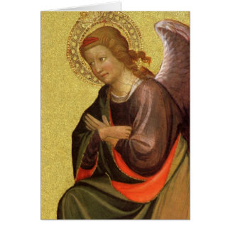 Renaissance Angel by Master of the Bambino Vispo Greeting Card