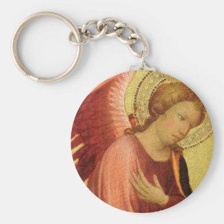 Renaissance Angel by Master of the Bambino Vispo Keychain
