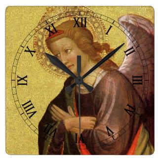 Renaissance Angel by Master of the Bambino Vispo Square Wall Clock