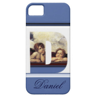 RENAISSANCE ANGEL D LETTER Winged Cherub Monogram iPhone SE/5/5s Case
