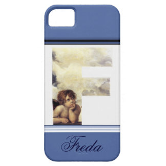 RENAISSANCE ANGEL F LETTER Winged Cherub Monogram iPhone SE/5/5s Case