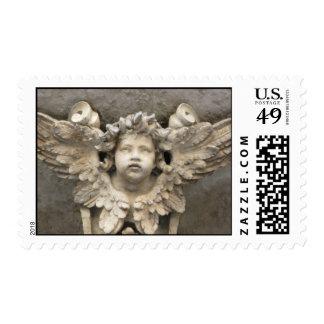 Renaissance angel postage stamp