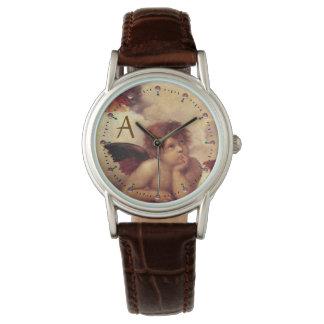 RENAISSANCE ANGEL /Winged Cherub Monogram Wrist Watches