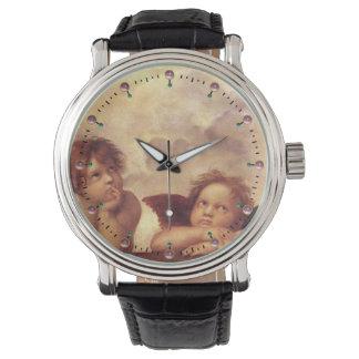 RENAISSANCE ANGELS /Winged Cherubs Wrist Watch