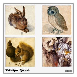 RENAISSANCE ANIMAL DRAWINGS COLLECTION WALL DECALS