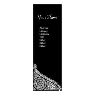 RENAISSANCE ARCHITECT,Architecture,Black and White Double-Sided Mini Business Cards (Pack Of 20)