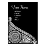RENAISSANCE ARCHITECT,Architecture,Black and White Large Business Cards (Pack Of 100)