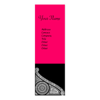 RENAISSANCE ARCHITECT Architecture,Pink Black Double-Sided Mini Business Cards (Pack Of 20)