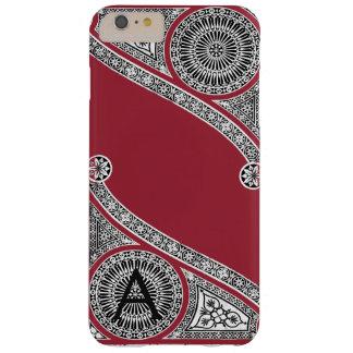 RENAISSANCE ARCHITECT Marsala Red Monogram Barely There iPhone 6 Plus Case