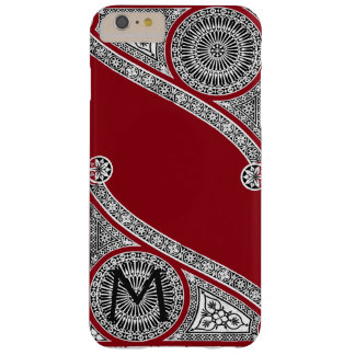 RENAISSANCE ARCHITECT Red Burgundy Monogram Barely There iPhone 6 Plus Case