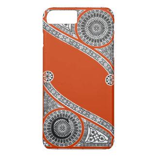 RENAISSANCE ARCHITECT Red Orange Monogram iPhone 8 Plus/7 Plus Case