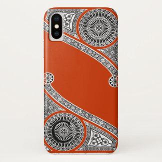 RENAISSANCE ARCHITECT Red Orange Monogram iPhone X Case