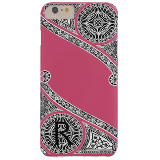RENAISSANCE ARCHITECT Strawberry Ice Pink Monogram Barely There iPhone 6 Plus Case