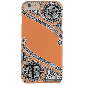 RENAISSANCE ARCHITECT Tangerine Orange Monogram Barely There iPhone 6 Plus Case